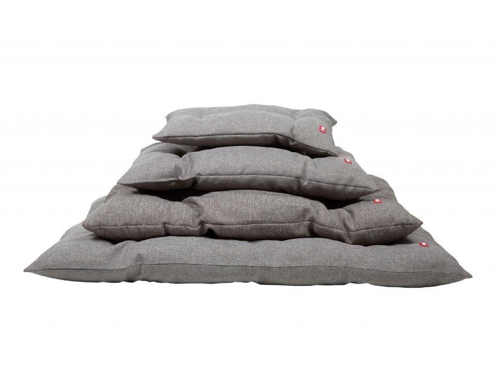Prošívaný polštář BOB - karamelově žlutá