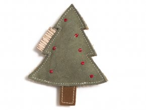 Suede leather toy christmas tree