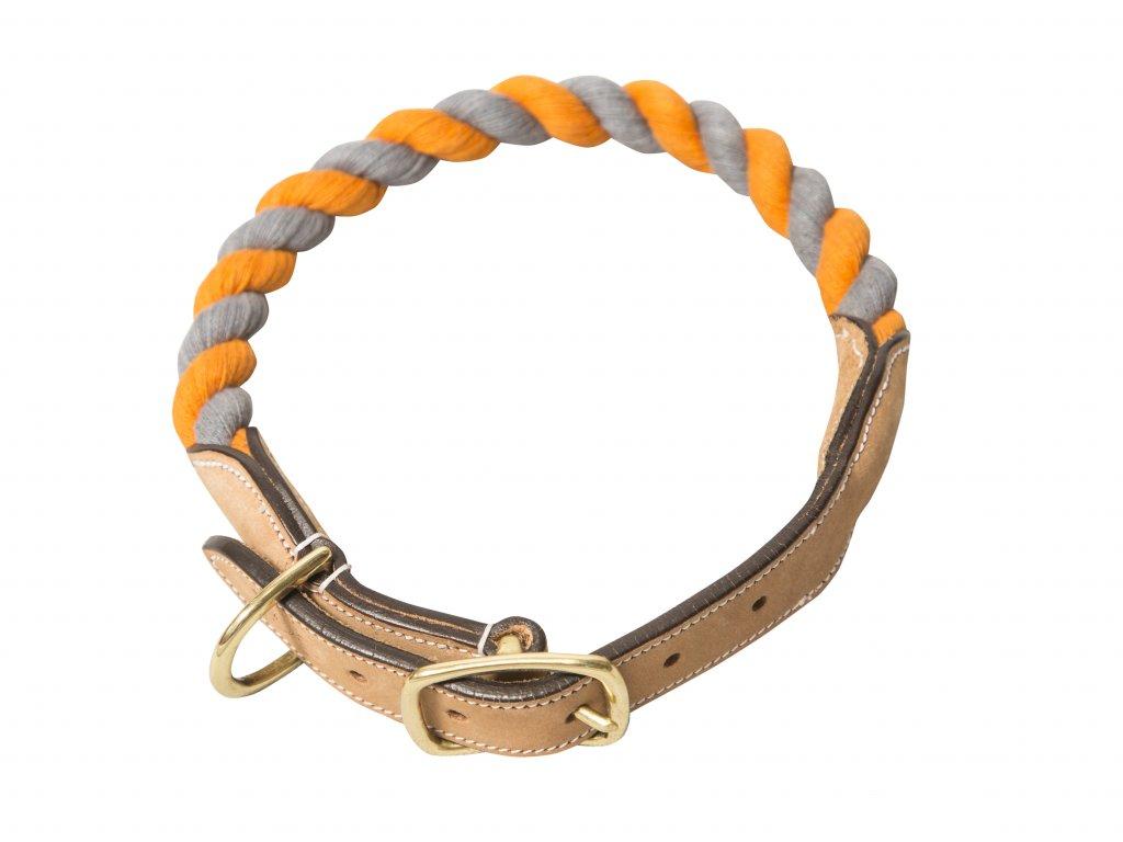 NufNuf Lassie obojek Barva  oranžově-šedá d3f9007bf3