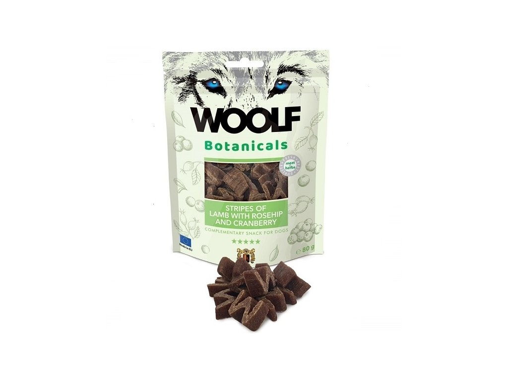 Woolf Botanicals Lamb Stripes, rosehip and cranberry 80g