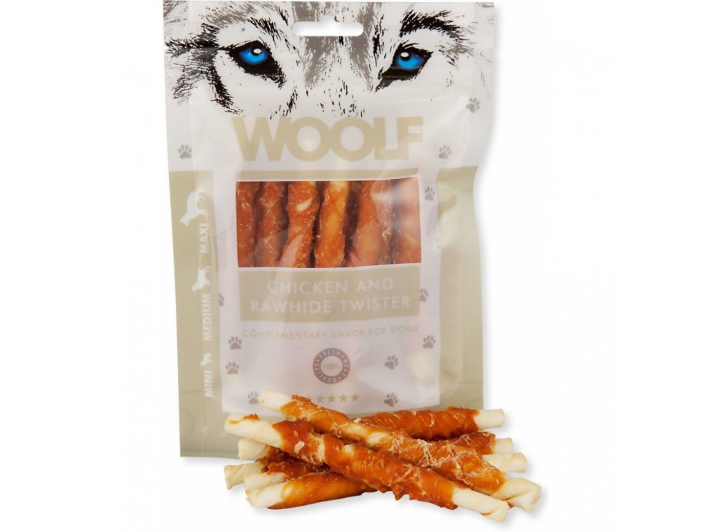 Chicken and rawhide twister 100g