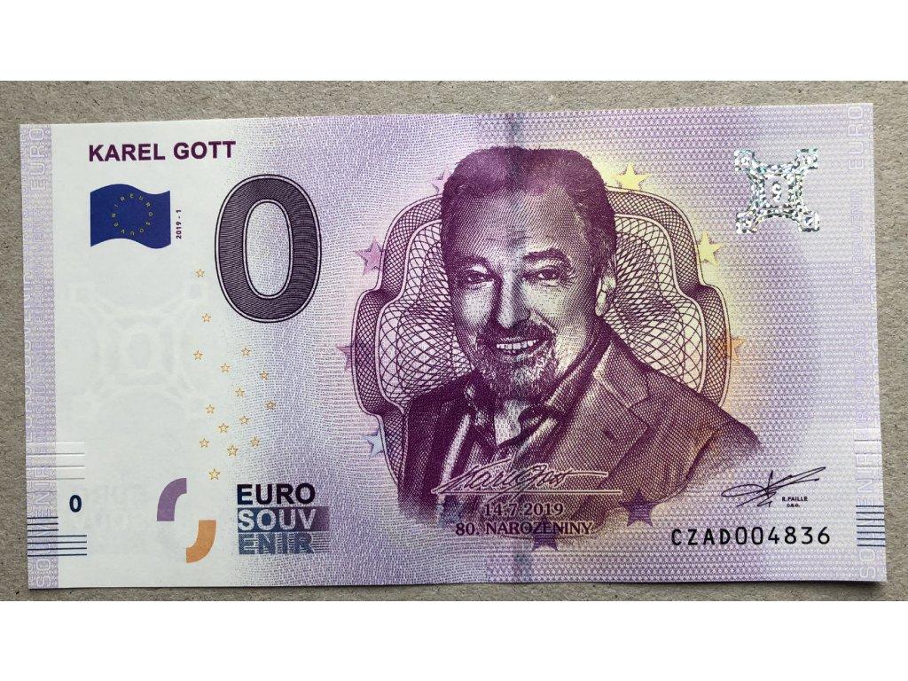 0 Euro Karel Gott 2019 + karta s podpisem č. 1