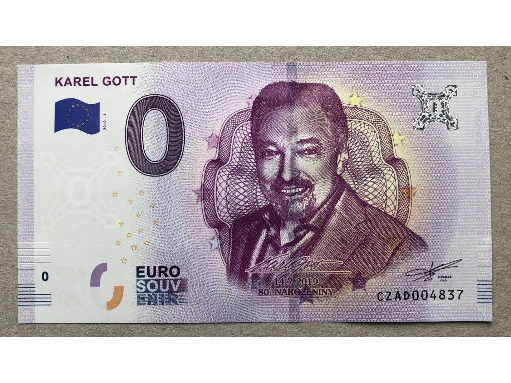 0 Euro Karel Gott 2019 + karta s podpisem č. 2