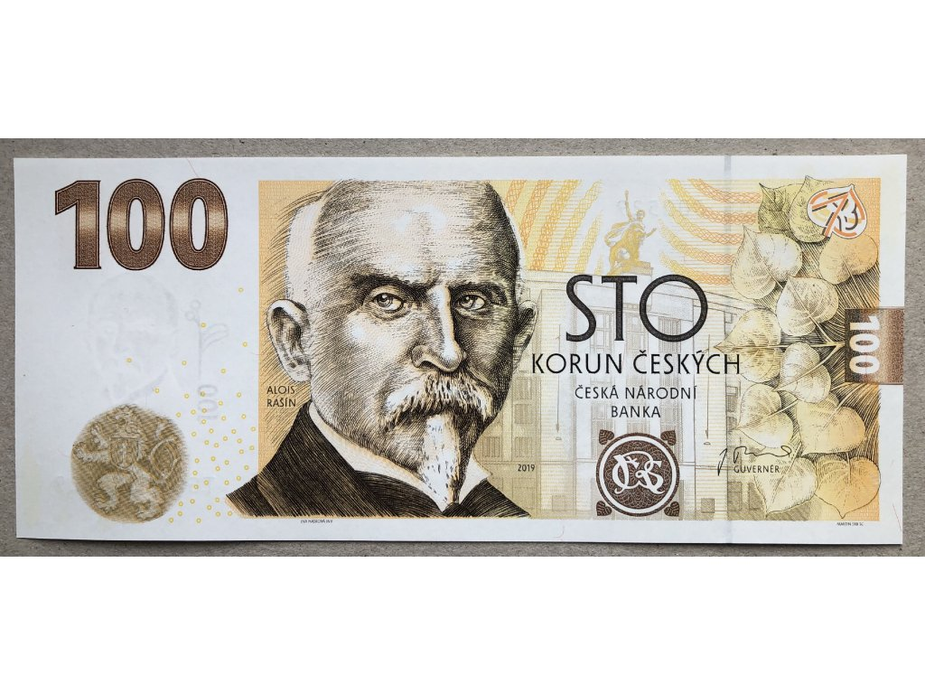 100 Kč Alois Rašín 2019