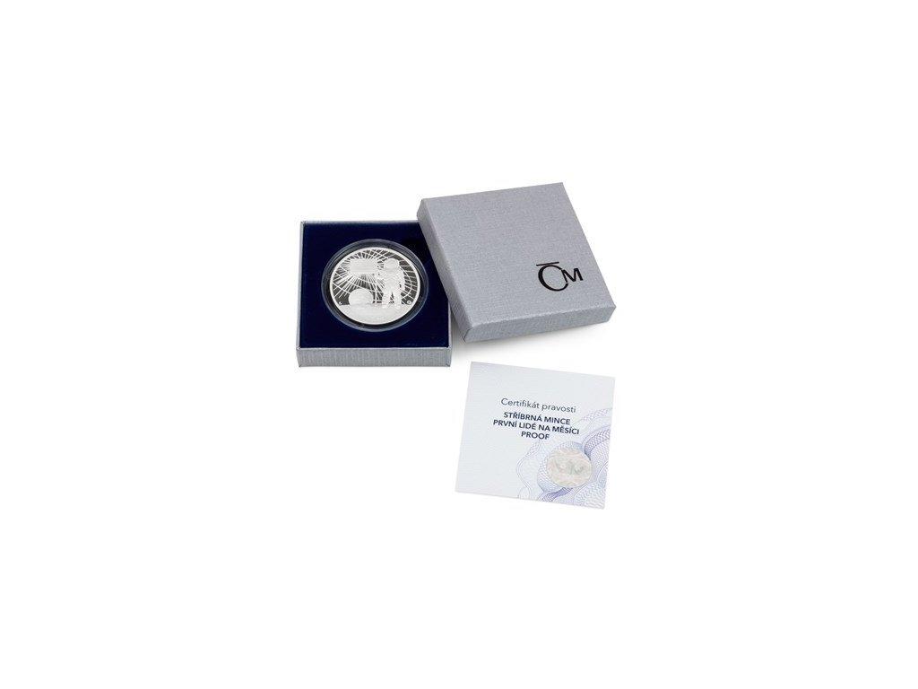 Stříbrná mince První lidé na Měsíci proof
