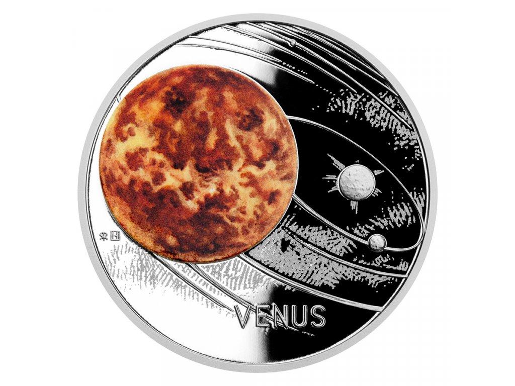 Stříbrná mince Sluneční soustava - Venuše proof