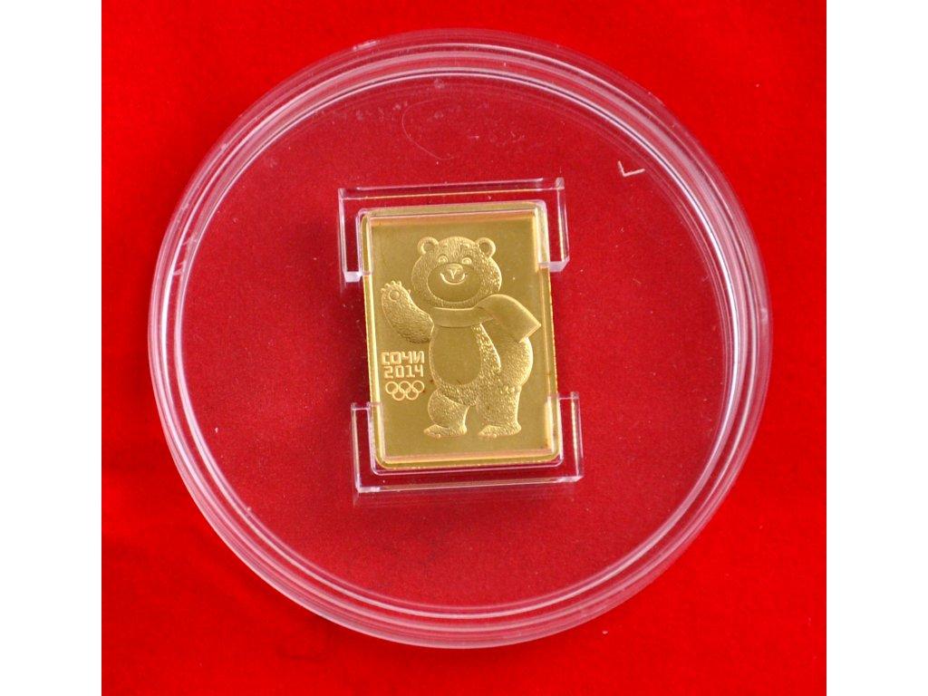 50 Rubles Sochi 2014 Olympic Mascots - Medvěd