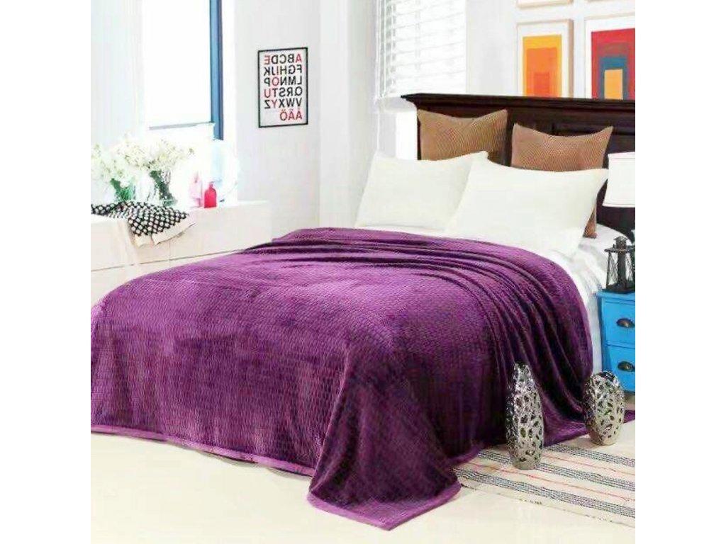 Luxusní fialová deka Life-150 x 200 cm