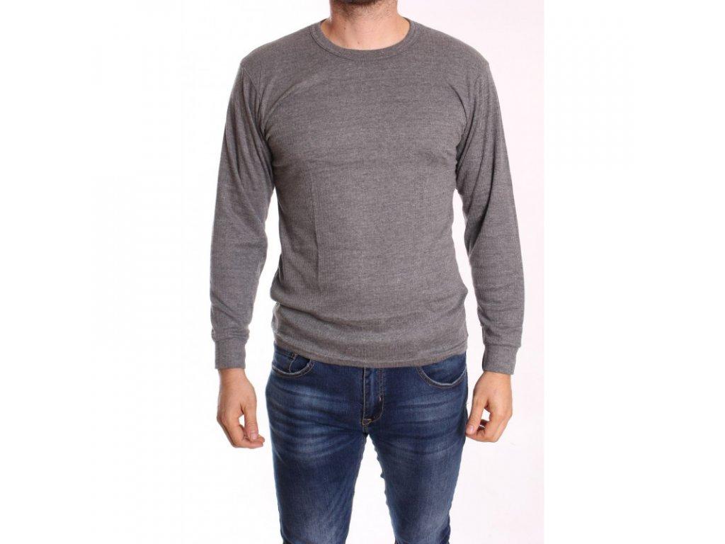 Pánský nátělník termo s dlouhým rukávem- šedý