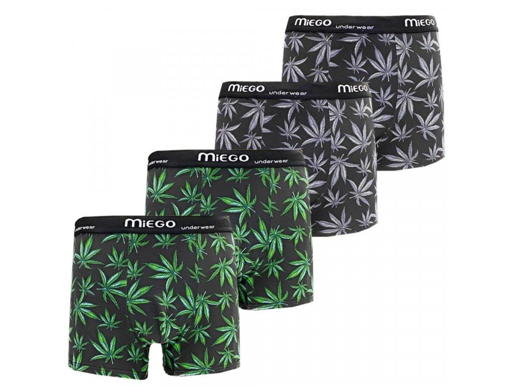 Pánské bavlněné boxerky Miego T848 ( 4 ks v balení )