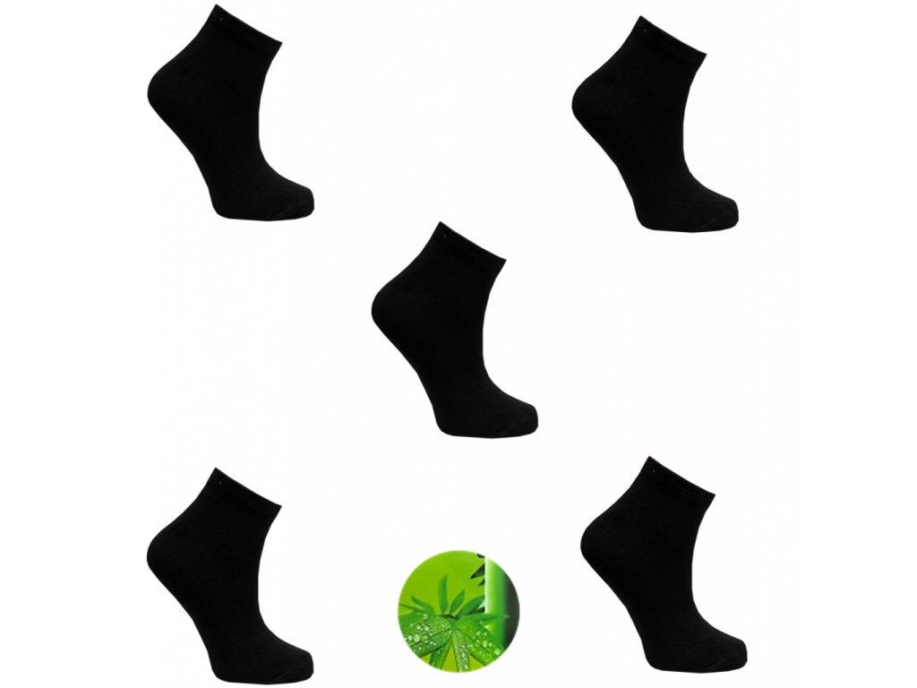Dámské ponožky bamboo Černá