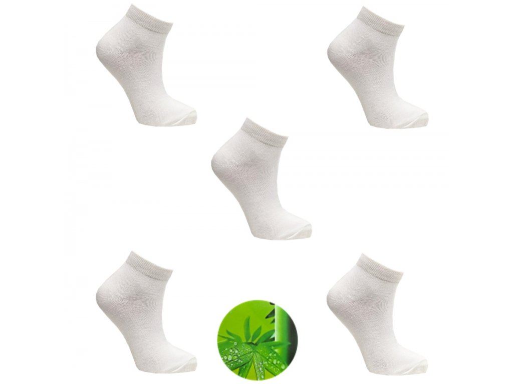 Dámské ponožky bamboo bíly1