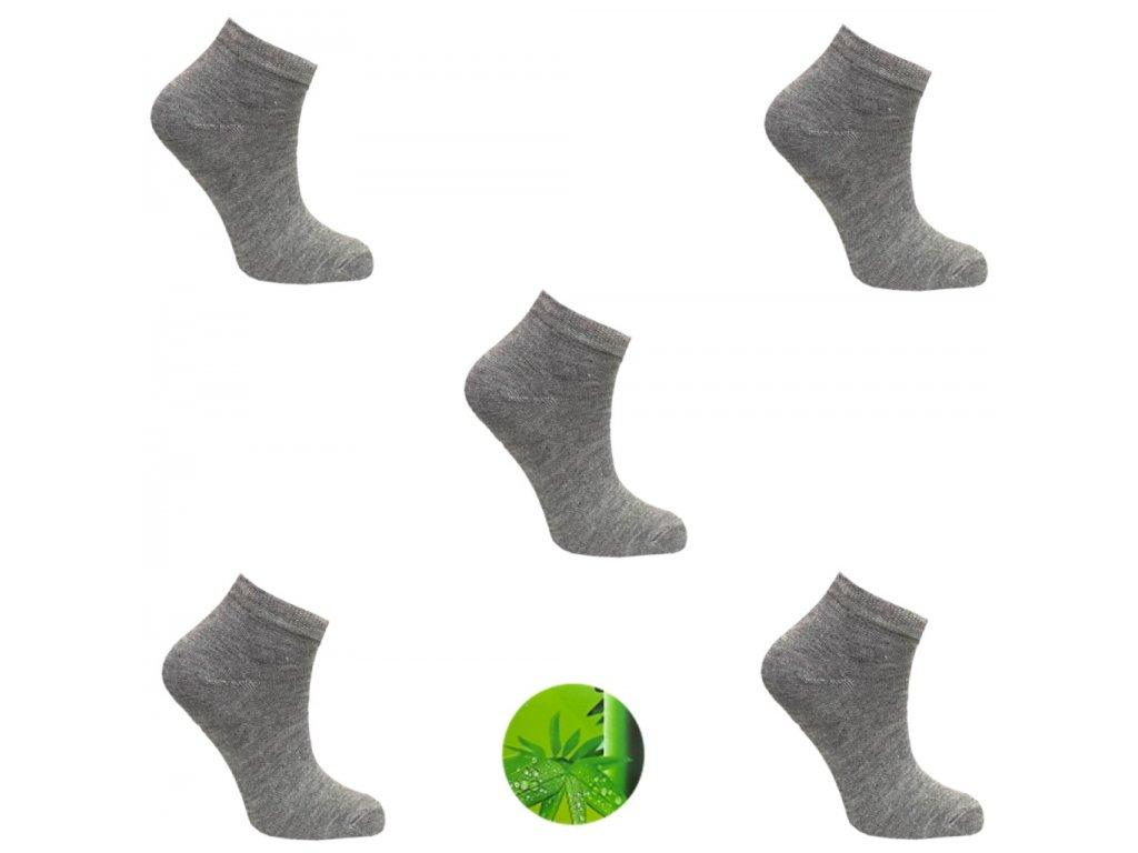 Dámské ponožky bamboo sedá