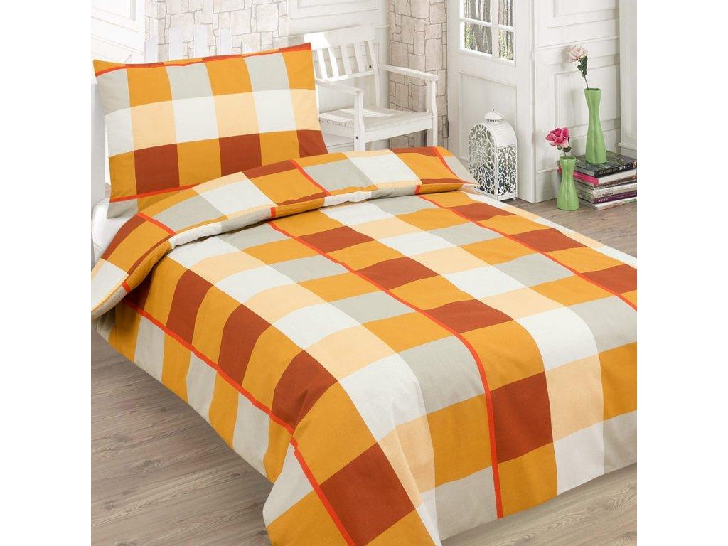 Bavlněné povlečení SQUARE oranžová