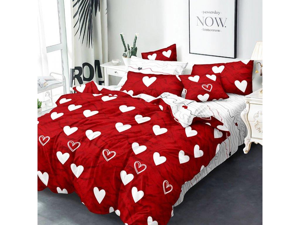 bavlnene obliecky red love now 3 dielna suprava 140x200cm 2511