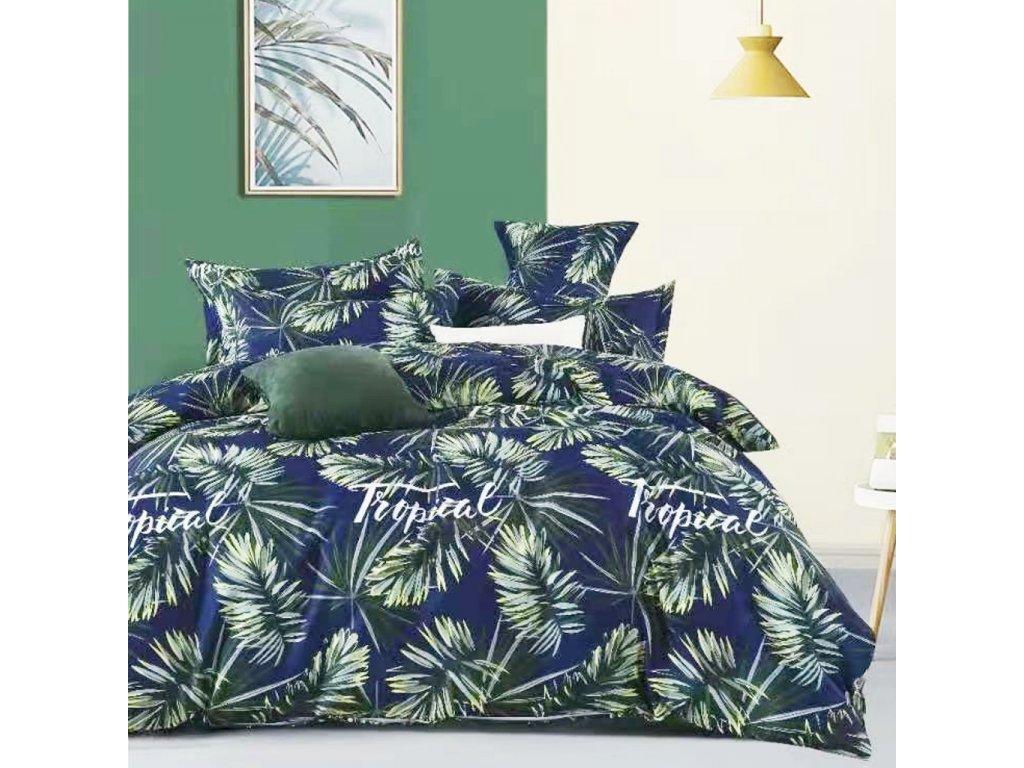 Bavlněná povlečení modrá - Tropical