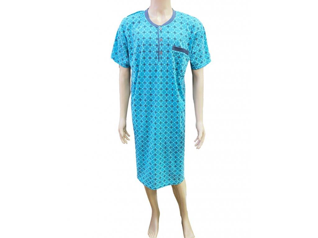 Pánská noční košile s krátkým rukávem QNN-12
