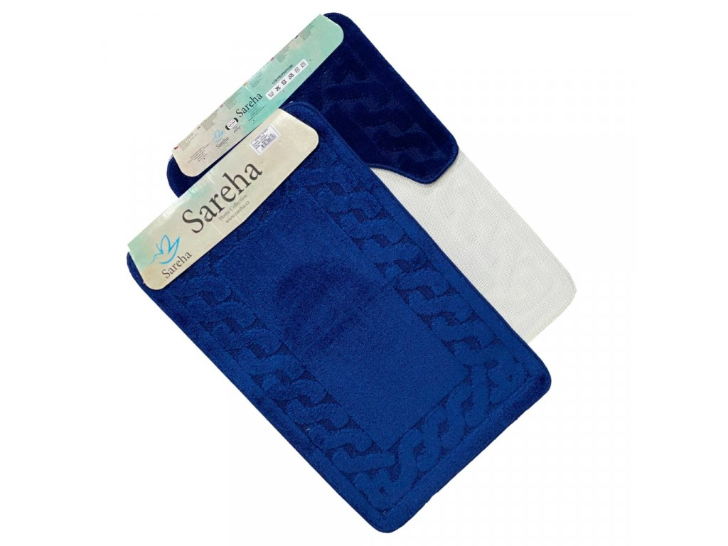 Koupelnová předložka modrá Sereha - 2ks