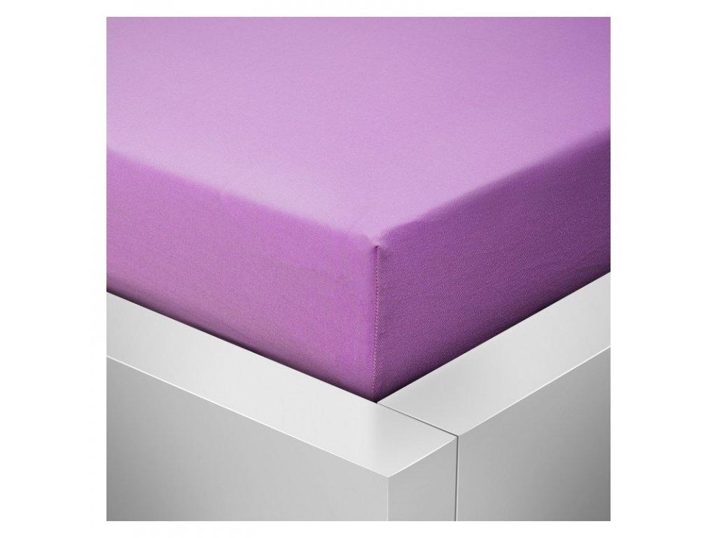 Jersey prostěradlo fialová