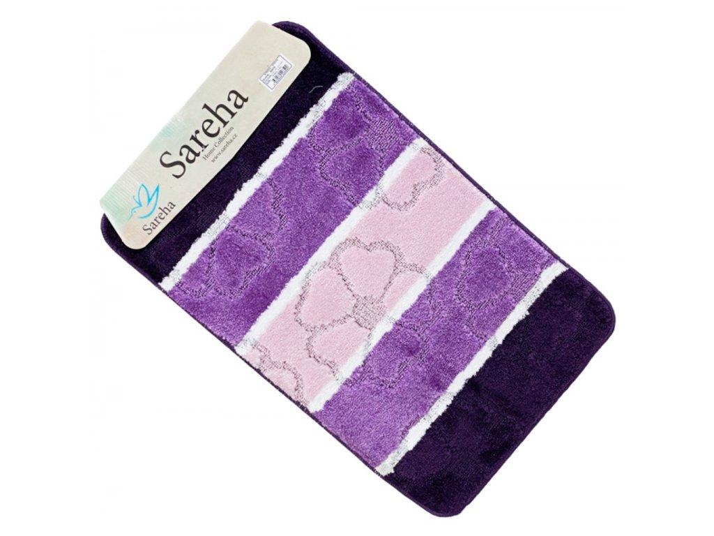 Koupelnová předložka fialový barva Sereha - 1ks