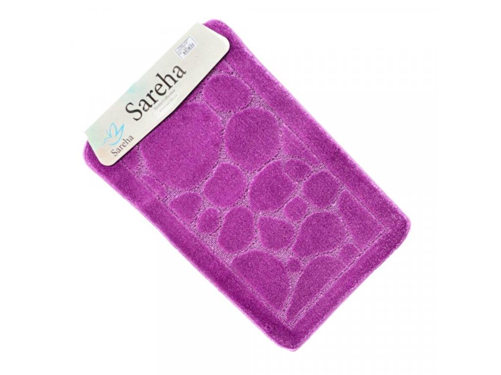 Koupelnová předložkab Odstín fialová barva Sereha - 1ks