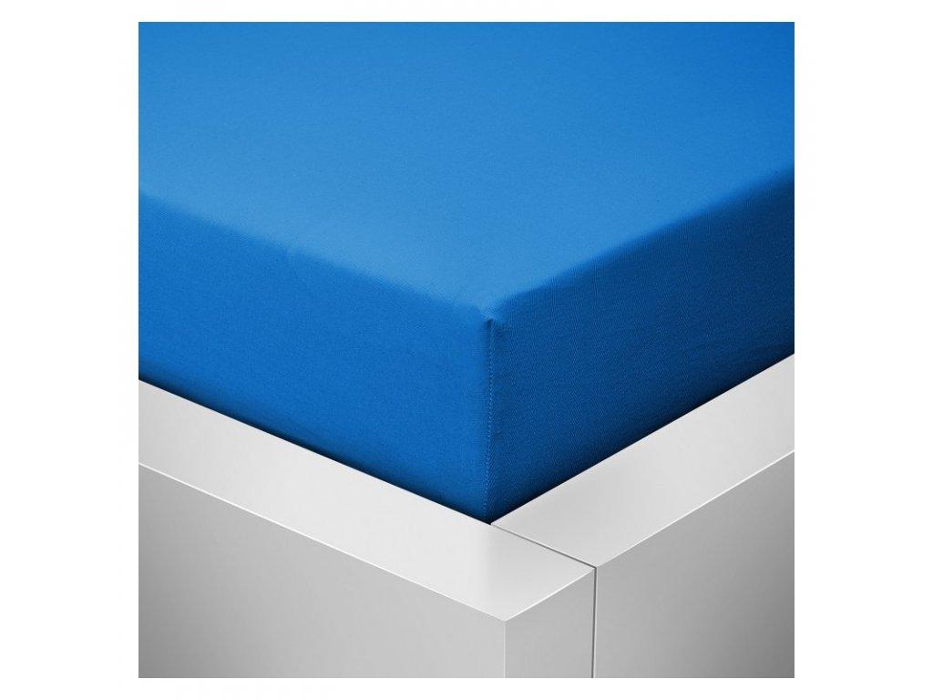 Jersey prostěradlo modrá