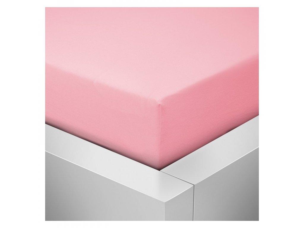 Jersey prostěradlo růžová