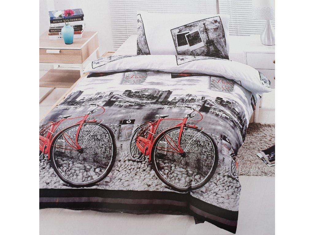 Povlečení bavlněné - Red bike