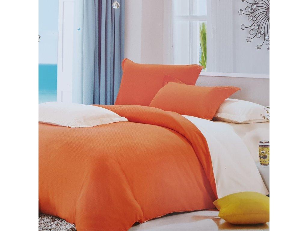 2 dílné bavlněné povlečení Basic oranžová