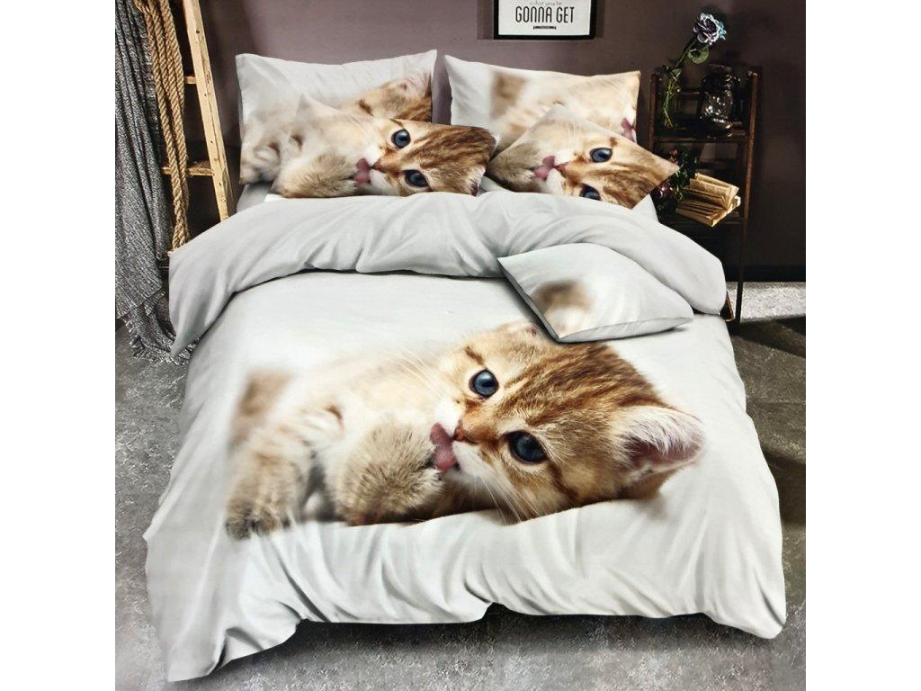3 dílné 3D povlečení Kočka JOY 2