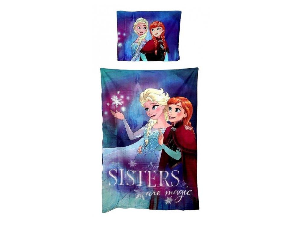 Bavlněné povlečení Frozen Sisters are magic