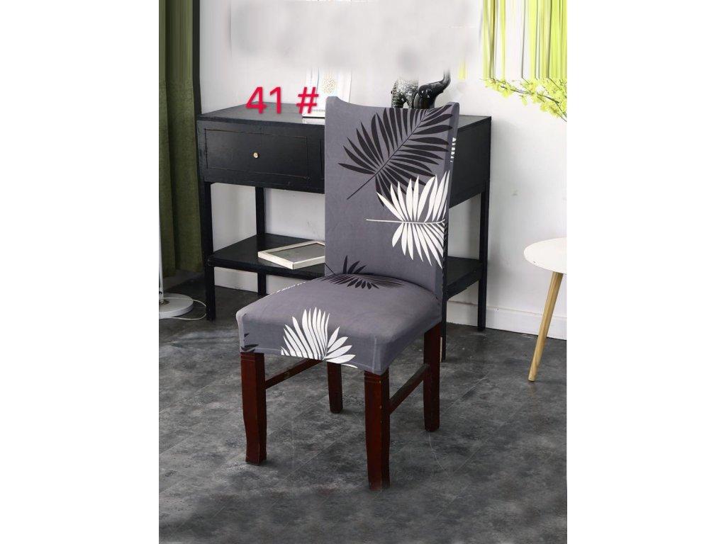 Univerzální potah na židli s florálním motivem