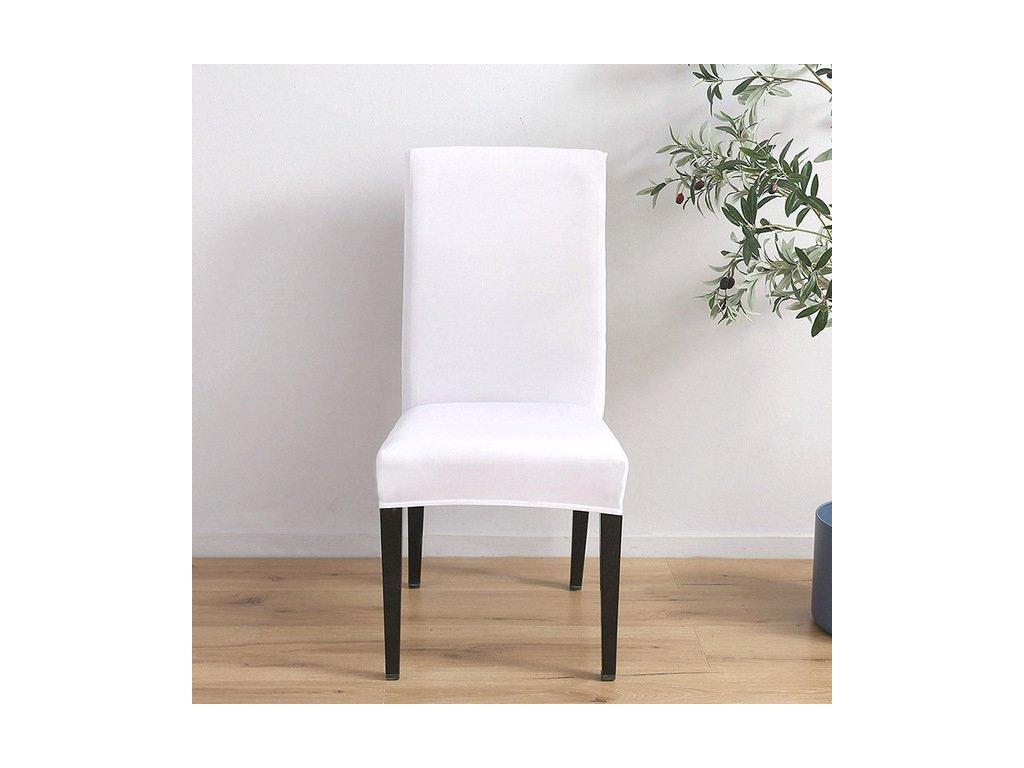 Univerzální potah na židli - bílý