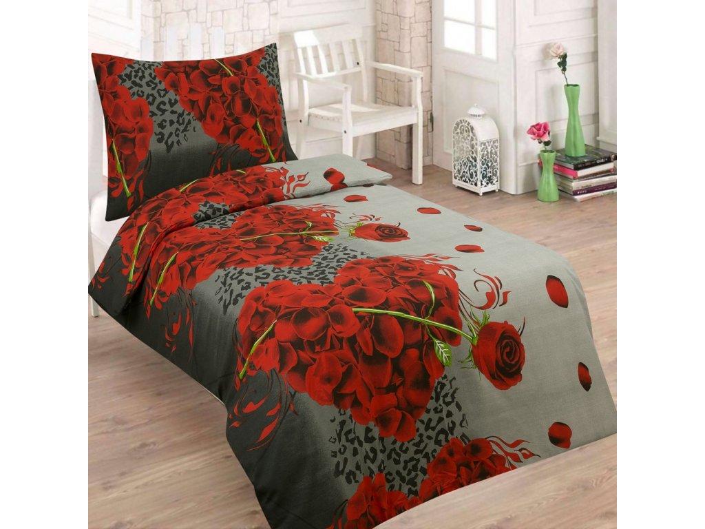 bavlnene povleceni ruze 140x200 70x90 cm