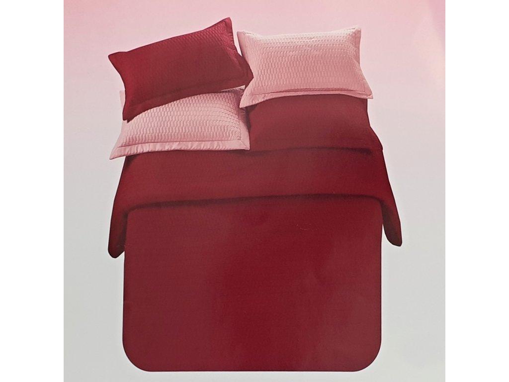 Prošívaný přehoz na postel 220x240 cm a 2 povlaky na polštářek 40x40 cm