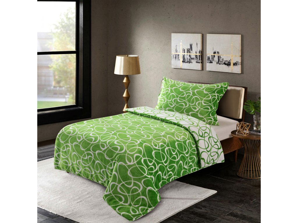 Microdream flanel Kirsty zelená