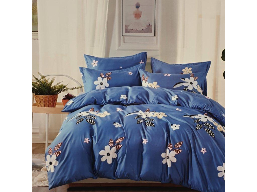Bavlněné povlečení na dvě lůžka Butterfly petals - Modrá