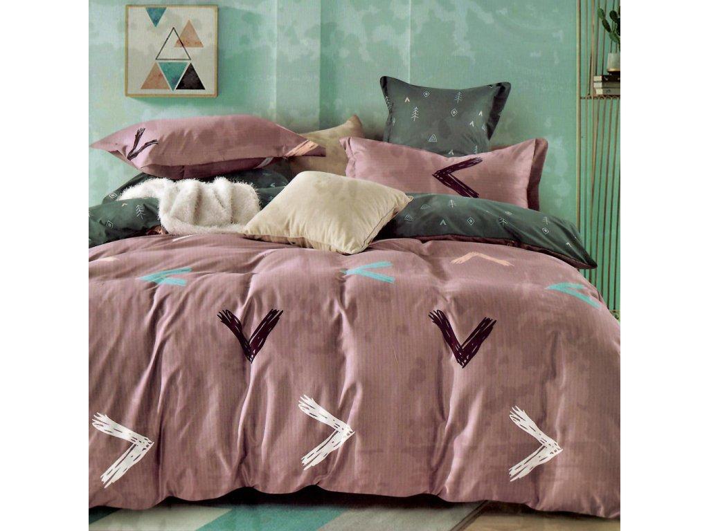 bavlnene obliecky nora 5 staro ruzova 140x200 cm vankus 70x90 cm a 40x50 cm 2004