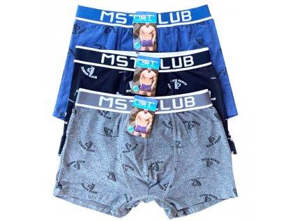 3 ks v balení LUXUSNÍ-pánské boxerky MST-E272