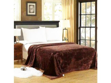 Luxusní hnědá deka Life-150 x 200 cm
