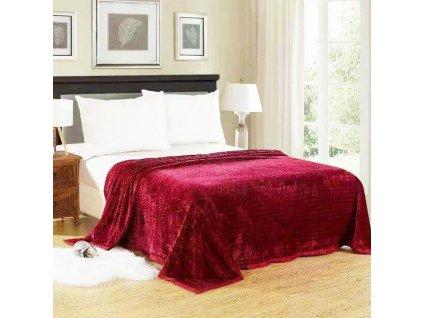 Luxusní vínová deka Life-150 x 200 cm