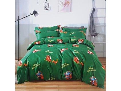 7 dílná Bavlněná sada vánočního povlečení 3D na 2 postele VÁNOCE IX. + PROSTĚRADLO ZDARMA