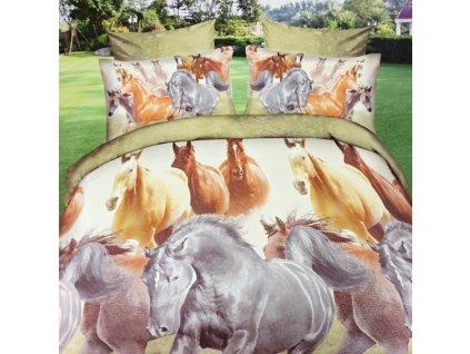4601 6 dilne francouzske flanelove povleceni kone