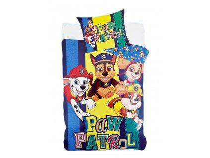 chlapcenske bavlnene obliecky paw patrol 140x200 70x90 cm modra 3099