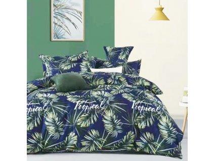 Francouzské bavlněné povlečení modrý - Tropical