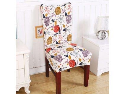 Potah na židli Vícebarevný S potiskem Polyester potahy