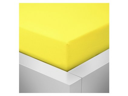 Jersey prostěradlo žlutá
