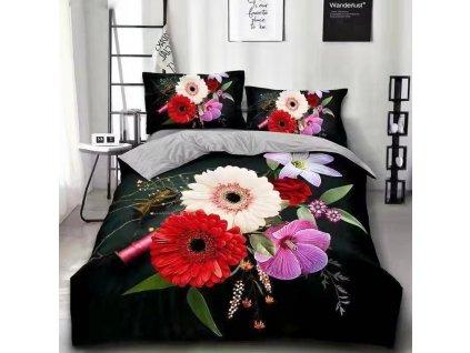 Bavlněné povlečení  - Mixované květiny