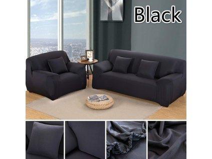 Potahy na pohovky elastické na Trojsedačku - Černé