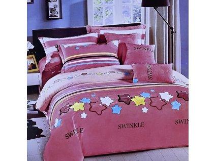Mikroflanelové povlečení, ružové - Swinkle